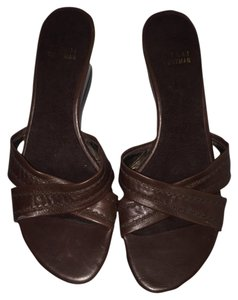Stuart Weitzman Brown Wedges