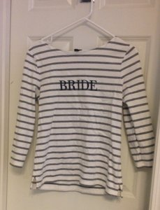 J.Crew White and Blue Bride Shirt