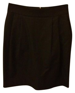Bebe Work Formal Solid Color Mini Skirt Black