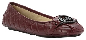 Michael Kors Quilted Fulton Burgandy Red Flats