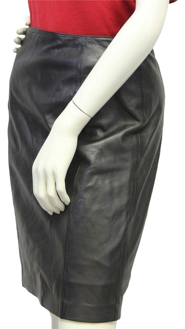 Kay Unger Sophisticate Genuine Leather Skirt Size 6 (S, 28) Kay Unger Sophisticate Genuine Leather Skirt Size 6 (S, 28) Image 1