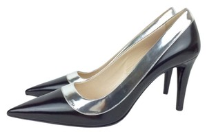 Prada Black Leather black/silver Pumps