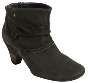 PIKOLINOS Slouch Contrast Stitching Round Toe Suede Ruched gray Boots