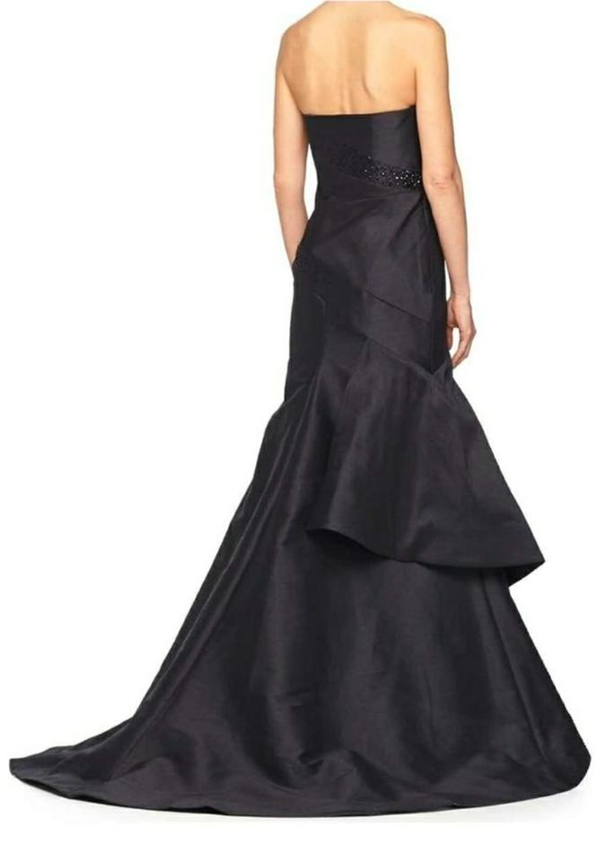 43273d21acd Monique Lhuillier Black Asymmetrical Ball Prom Gown Long Formal Dress Size  10 (M) - Tradesy