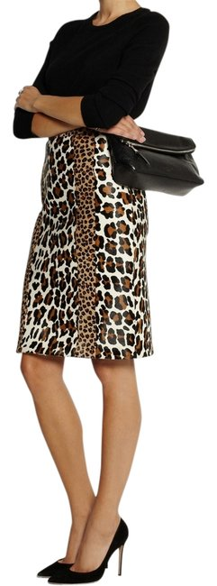 Item - Animal Print XS New Prorsum Calfhair Pencil Skirt Size 0 (XS, 25)