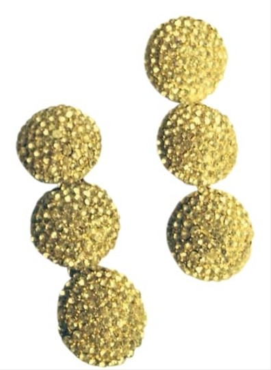 Other Statement Rhinestone White Encrusted Drop Earrings