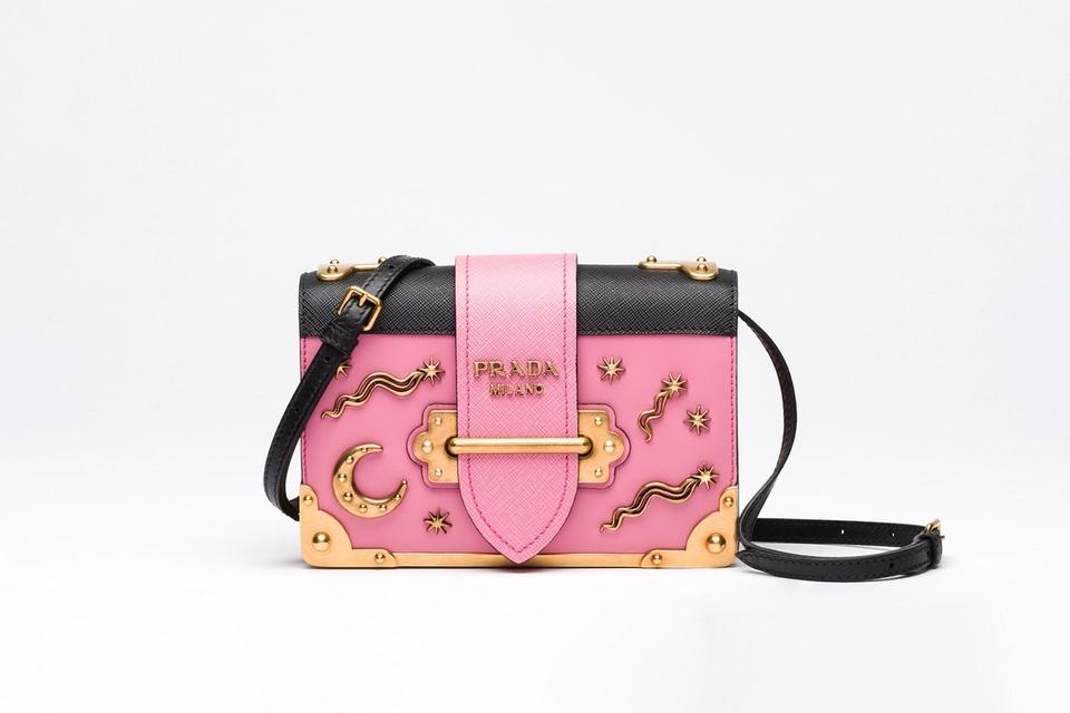 8a5247fc7156 Prada Cahier Sold Out Embellished Moon and Stars Shoulder Pink ...
