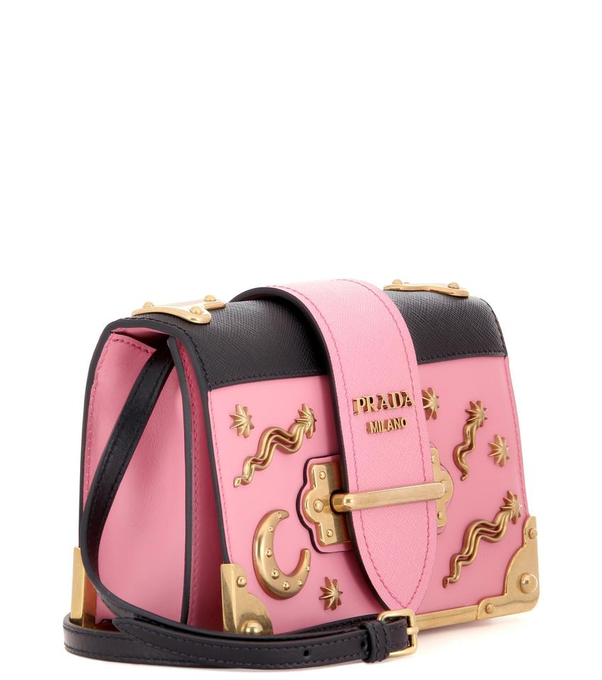 4b994bedcded Prada Cahier Sold Out Embellished Moon and Stars Shoulder Pink Leather Cross  Body Bag - Tradesy