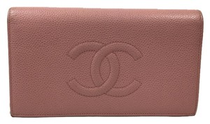 Chanel Caviar Leather Fold Long Wallet