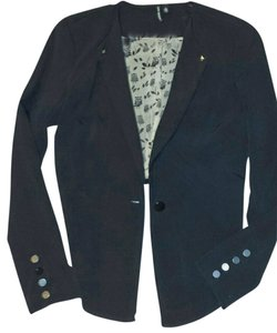 Love Hatch Hi Lo Hip Black Blazer