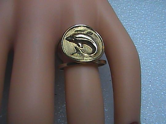 Vintage 10k Solid Yellow Gold Dolphin Ring