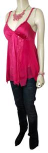 bebe P853 Size Small Silk Top Dark Pink