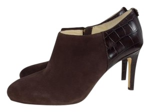 Michael Kors York Ankle Crocodile Brown Boots