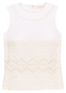 Tory Burch Size 2 Top White/New Ivory