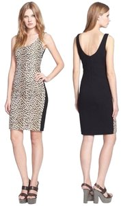 Diane von Furstenberg Cheetah Jacquard Animal Print Sheath Stretchy Dress
