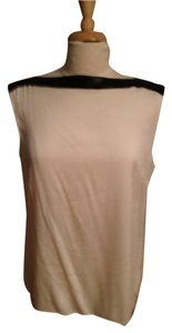 Elie Tahari Sequin Silk Top Cream with Black Sequins