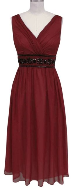 Preload https://item5.tradesy.com/images/dark-red-goddess-beaded-waist-sizelrg-mid-length-cocktail-dress-size-12-l-128289-0-0.jpg?width=400&height=650