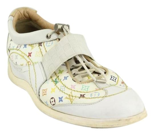 Preload https://item1.tradesy.com/images/louis-vuitton-multicolor-white-rubber-sneakers-sneakers-size-eu-395-approx-us-95-regular-m-b-1282905-0-5.jpg?width=440&height=440