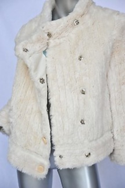 Marc by Marc Jacobs Faux Fur White Jacket