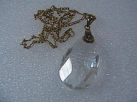 Other HUGE 14k Yellow Gold Cubic Zirconia Pear Shaped Pendant Necklace