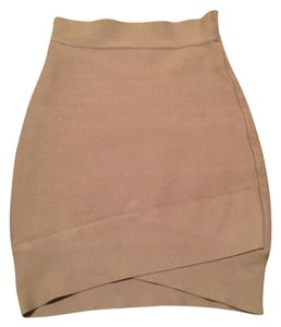 BCBGMAXAZRIA Mini Skirt Tan/Beige