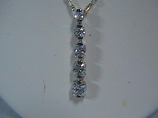 Other Sterling Silver CZ Necklace