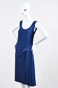 short dress Blue Philosophy Navy Crepe on Tradesy