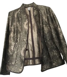 Chico's Animal Print BROWN/BLACK/BEIGE Jacket