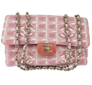 9d7a507e9ba6 Added to Shopping Bag. Chanel Flap Chain Quilted Travel Canvas Cc Cc Logo  Crossbody Purse Shoulder Bag