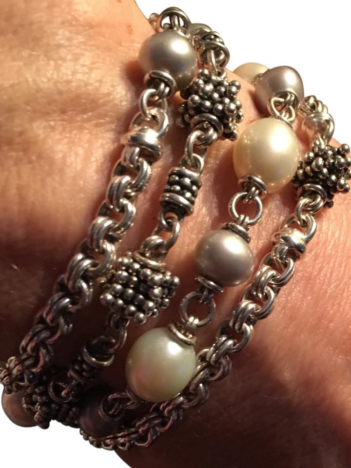 Michael Dawkins Multi Strand Pearl Bracelet With Engraveable Clasp