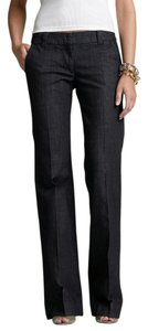 J.Crew Trouser Tall City Fit Trouser/Wide Leg Jeans-Dark Rinse