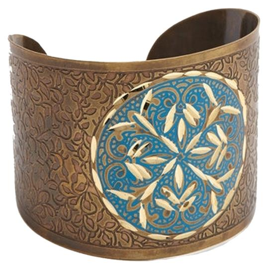 Preload https://item5.tradesy.com/images/gold-and-blue-circle-etched-cuff-bracelet-1283299-0-0.jpg?width=440&height=440
