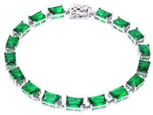9.2.5 Gorgeous emerald baguette Tennis Bracelet final sale