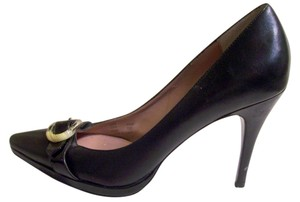 Calvin Klein Leather Stilleto Black Pumps