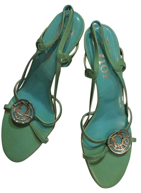 Item - Tiffany Blue/Light Green Elegant Sandals Size US 7.5 Regular (M, B)