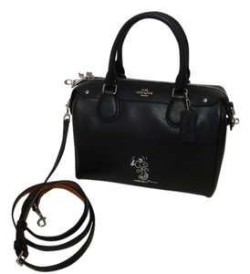 Coach Snoopy New With Tags Satchel in Black