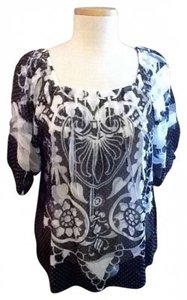 Mushka by Sienna Rose Top Light Black and White