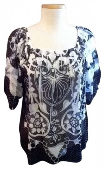 Preload https://item3.tradesy.com/images/light-black-and-white-w-pretty-tuck-details-blouse-size-12-l-128362-0-0.jpg?width=400&height=650