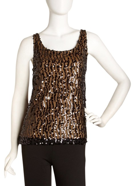 Preload https://item3.tradesy.com/images/laundry-by-shelli-segal-black-and-honey-sequin-night-out-top-size-4-s-1283637-0-0.jpg?width=400&height=650