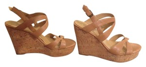 Nine West Camel / beige Wedges