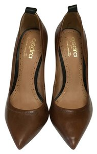 Esdra Mara Caminata Brown/Tan Pumps US Size 7 EUR 37 Tan Pumps