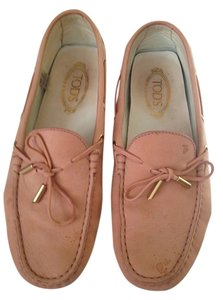 Tod's Brush Suede Loafers Pink Flats