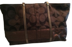 Coach Tote in Brown / Bronze