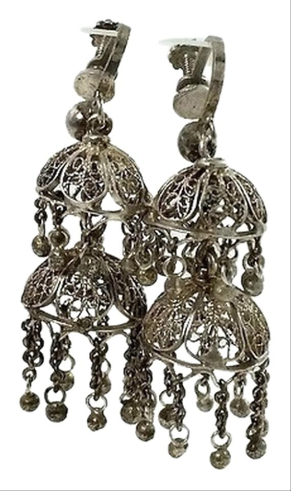 Silver victorian filigree two tier dome vintage chandelier earrings other victorian filigree silver earrings two tier dome earrings vintage chandelier earrings mozeypictures Images
