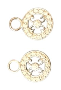 Jude Frances JUDE FRANCES HUGS AND KISSES DIAMOND EARRING CHARMS