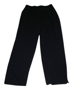 Lafayette 148 New York Stretchy Size 4 Sz 4 Elastic Waist Straight Pants Black