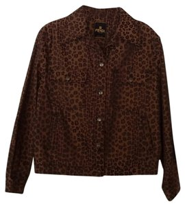 Fendi Vintage Black and brown Womens Jean Jacket