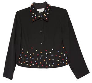 Maggy London Buttons Black Jacket