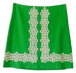 Lilly Pulitzer Mini Skirt Green and White