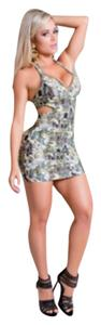Brazilian Imported Dress short dress Prints /Olive Green on Tradesy